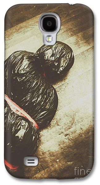 Tied And Wrapped Up Body In Garbage Bags Galaxy S4 Case by Jorgo Photography - Wall Art Gallery