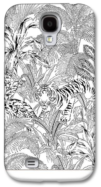 Tiger Black And White Galaxy S4 Case