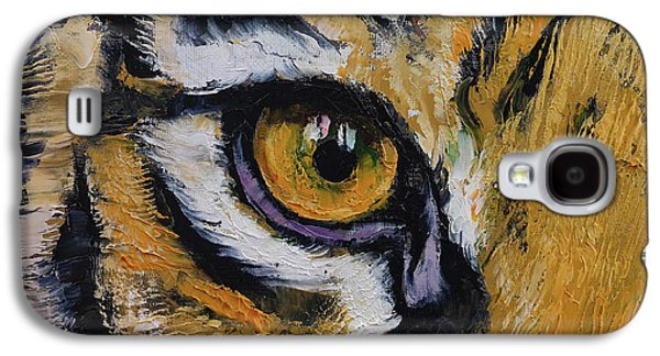 Tiger Eye Galaxy S4 Case by Michael Creese