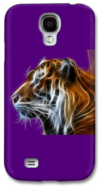 Tiger Fractal Galaxy S4 Case by Shane Bechler