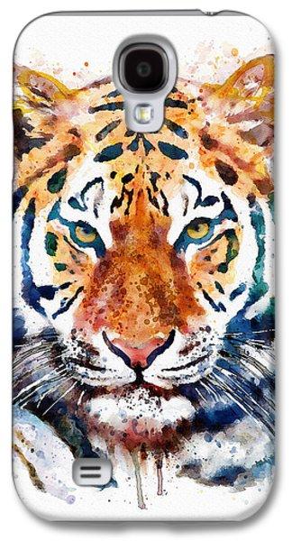 Tiger Head Watercolor Galaxy S4 Case