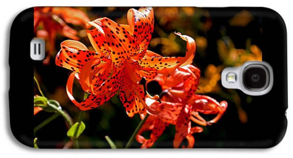 Tiger Lilies Galaxy S4 Case by Rona Black