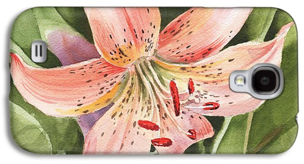 Tiger Lily Watercolor By Irina Sztukowski Galaxy S4 Case