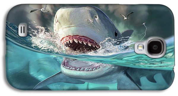 Sharks Galaxy S4 Case - Tiger Sharks by Jerry LoFaro