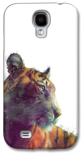 Tiger // Solace - White Background Galaxy S4 Case by Amy Hamilton
