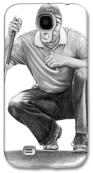 Tiger Woods Crouching Tiger Galaxy S4 Case by Murphy Elliott