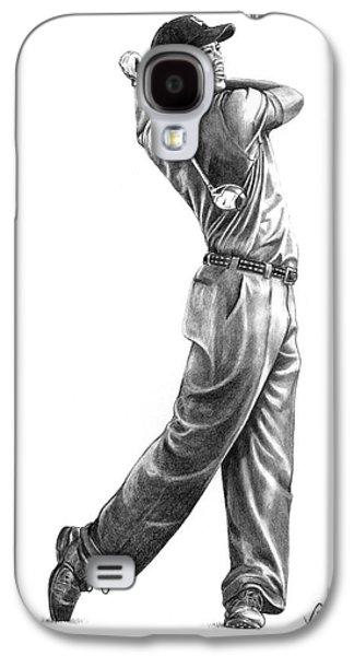 Tiger Woods Full Swing Galaxy S4 Case by Murphy Elliott
