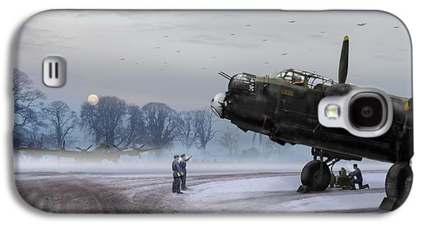 Galaxy S4 Case featuring the photograph Time To Go - Lancasters On Dispersal by Gary Eason