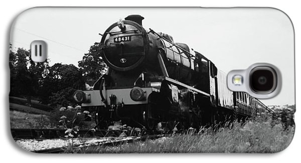 Time Travel By Steam B/w Galaxy S4 Case by Martin Howard