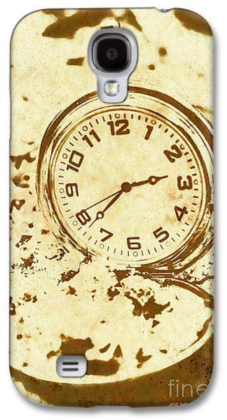 Time Worn Vintage Pocket Watch Galaxy S4 Case
