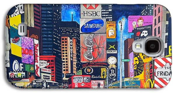 Times Square Galaxy S4 Case by Autumn Leaves Art