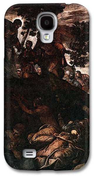 Tintoretto The Miracle Of The Loaves And Fishes Galaxy S4 Case by Jacopo Robusti Tintoretto
