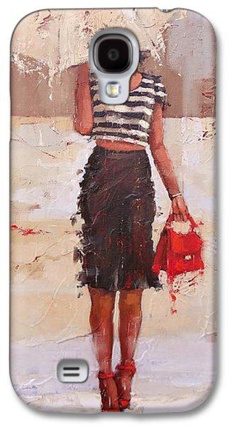 Tip Toe Galaxy S4 Case by Laura Lee Zanghetti
