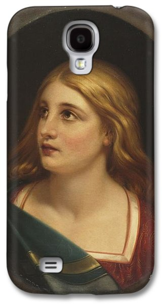 Title A Light Haired Woman Galaxy S4 Case by MotionAge Designs