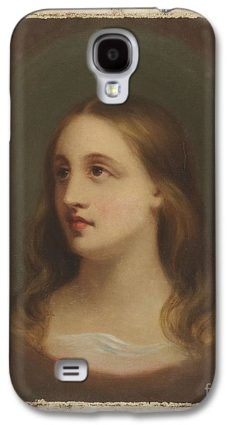 Title A Red-haired Woman Galaxy S4 Case by MotionAge Designs
