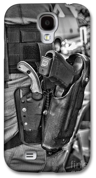 To Protect And Serve In Black And White  Galaxy S4 Case