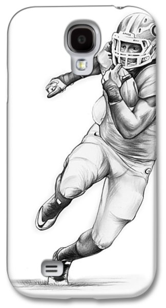 Sports Galaxy S4 Case - Todd Gurley by Greg Joens