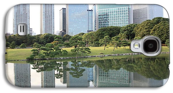 Tokyo Skyline Reflection Galaxy S4 Case by Carol Groenen