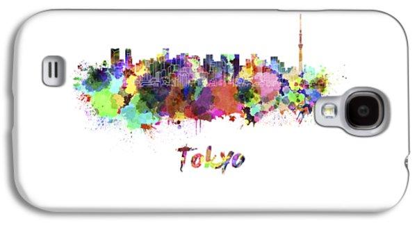 Tokyo V2 Skyline In Watercolor Galaxy S4 Case by Pablo Romero