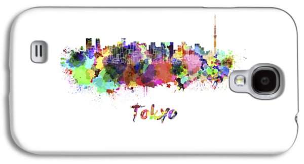 Tokyo V2 Skyline In Watercolor Galaxy S4 Case