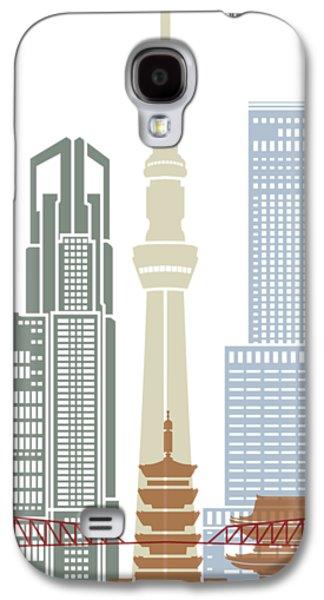 Tokyo V2 Skyline Poster Galaxy S4 Case