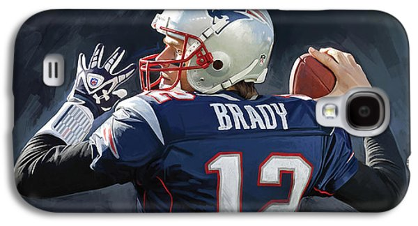 Tom Brady Artwork Galaxy S4 Case