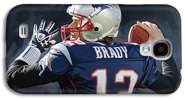 Tom Brady Artwork Galaxy S4 Case by Sheraz A