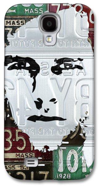 Tom Brady New England Patriots Massachusetts Recycled Vintage License Plate Portrait Original Galaxy S4 Case