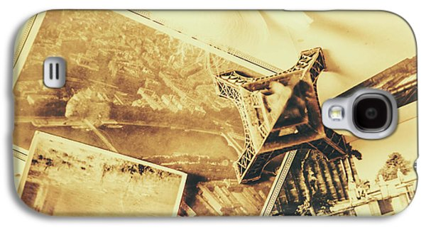 International Travel Galaxy S4 Case - Toned Image Of Eiffel Tower And Photographs On Table by Jorgo Photography - Wall Art Gallery