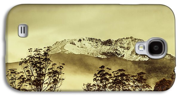 Toned View Of A Snowy Mount Gell, Tasmania Galaxy S4 Case by Jorgo Photography - Wall Art Gallery