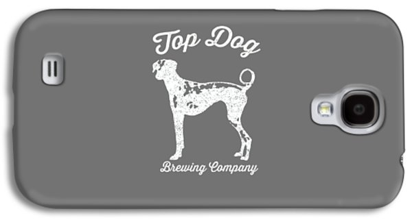 Top Dog Brewing Company Tee White Ink Galaxy S4 Case by Edward Fielding