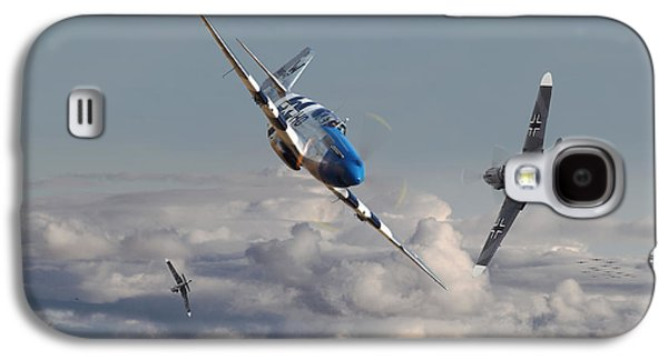 Top Gun - 1944 Version - P51 V Bf109g Galaxy S4 Case