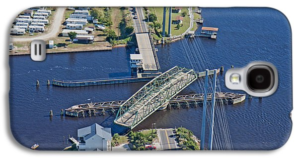 Topsail Island Swing Bridge Galaxy S4 Case by Betsy Knapp