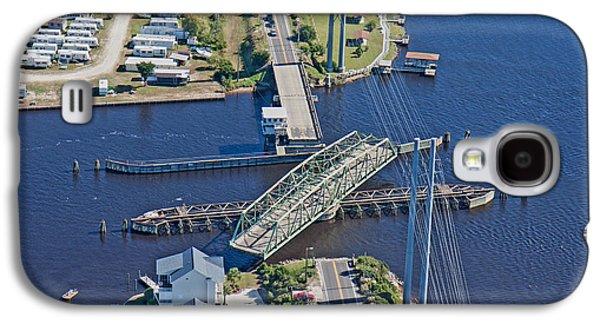 Topsail Island Swing Bridge Galaxy S4 Case by Betsy Knapp