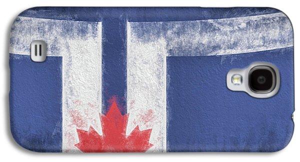 Galaxy S4 Case featuring the digital art Toronto Canada City Flag by JC Findley