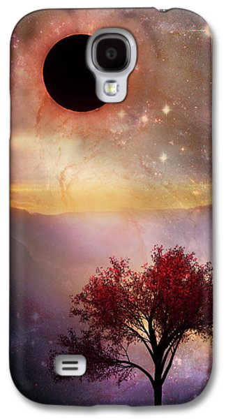 Total Eclipse Of The Sun Tree Art Galaxy S4 Case