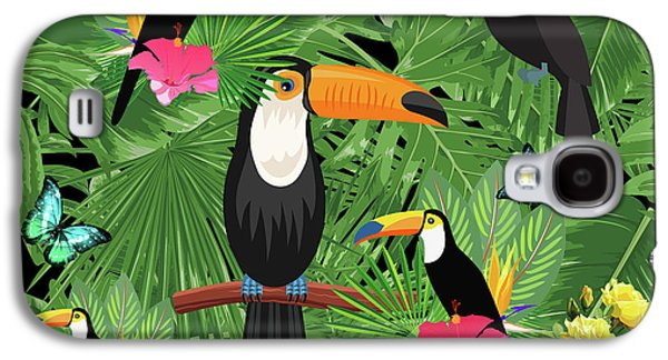 Toucan Tropic  Galaxy S4 Case by Mark Ashkenazi