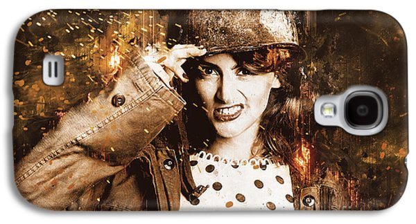 Tough Pin Up Soldier Galaxy S4 Case by Jorgo Photography - Wall Art Gallery