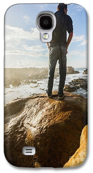 Tourist Looking At The Ocean Galaxy S4 Case by Jorgo Photography - Wall Art Gallery