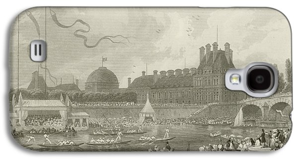 Tournay On The Seine During The July Fetes Galaxy S4 Case by Eugene-Louis Lami