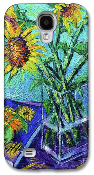 Tournesols Pour Vincent Galaxy S4 Case by Mona Edulesco