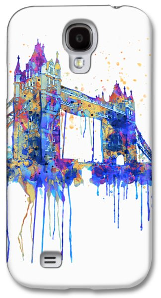Tower Bridge Watercolor Galaxy S4 Case by Marian Voicu
