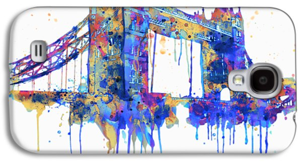 Tower Bridge Watercolor Galaxy S4 Case by Marian Voicu