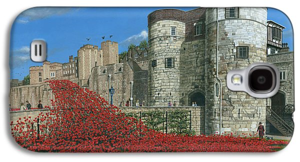 Tower Of London Poppies - Blood Swept Lands And Seas Of Red  Galaxy S4 Case
