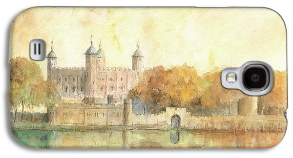 Tower Of London Watercolor Galaxy S4 Case