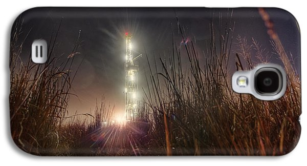 Rigs Galaxy S4 Cases - Towering Oil Galaxy S4 Case by Thomas Zimmerman
