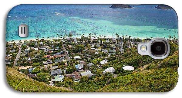 Town Of Kailua With Mokulua Islands Galaxy S4 Case by Inti St. Clair