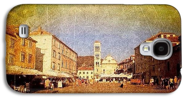 Town Square #edit - #hvar, #croatia Galaxy S4 Case by Alan Khalfin