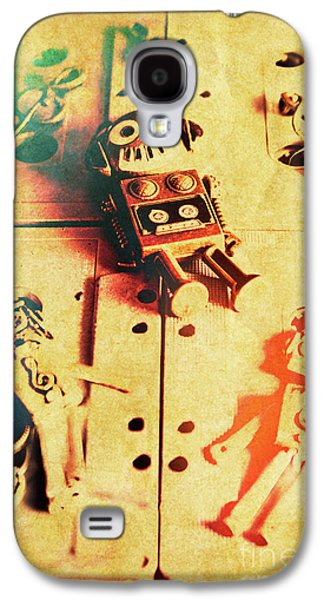 Toy Robots On Vintage Cassettes Galaxy S4 Case by Jorgo Photography - Wall Art Gallery