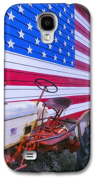 Tractor And Large Flag Galaxy S4 Case